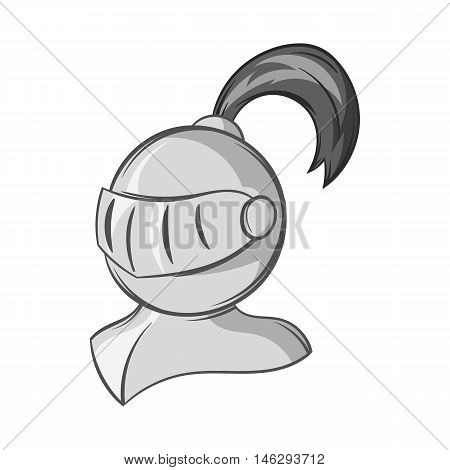 Medieval battle armor icon in black monochrome style isolated on white background. Protection symbol vector illustration