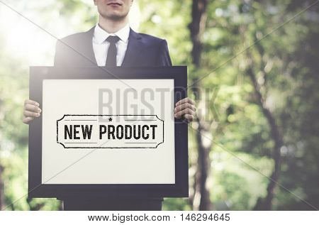 New Product Promotion Sign Concept