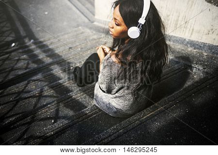 Earphones Electronic Enjoyment Sound Concept