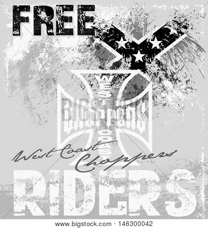 choppers rider vector for T-shirt printed and poster