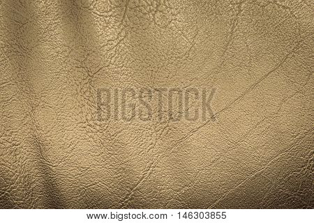 Close up gold leather and texture background