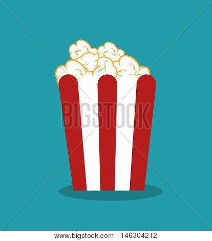 icon pop corn cinema design vector illustration eps 10