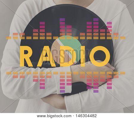 Audio Digital Equalizer Music Tunes Sound Wave Graphic Concept