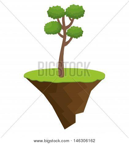 icon tree bonsai design vector illustration eps 10