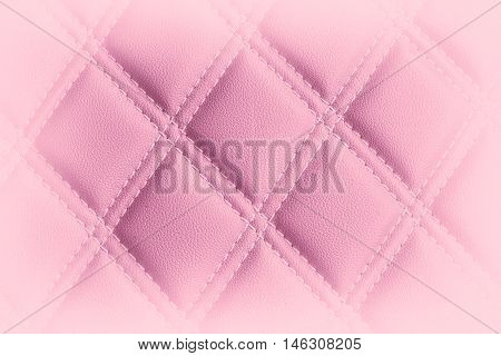 Close up texture of pink leather seam close-up