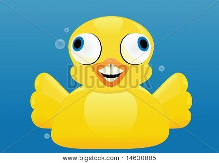 Excited Rubber Duck