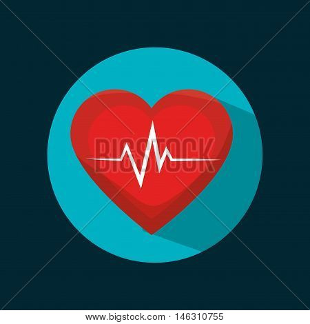 icon cardiology sport health design vector illustration eps 10