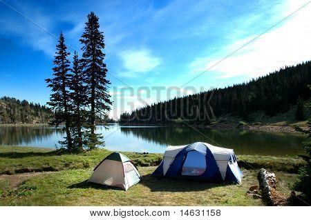 Camping Tents Near Lake