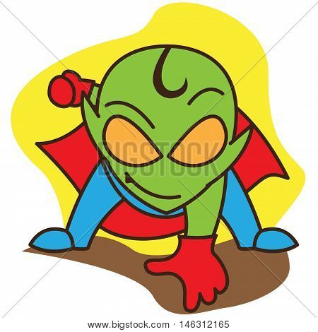 Super alien of vector art illustration design