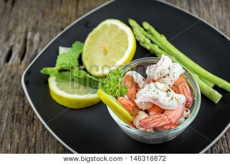 Shrimps. Prawns isolated on a White Background. Seafood rawfood