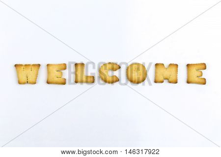 Welcome wording by a b c biscuit