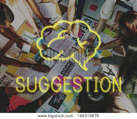 Creation Brainstorming Ideas Creation Cloud Graphic Concept
