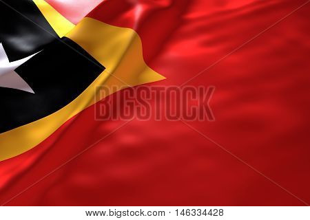 Timor Leste flag background , 3d rendering