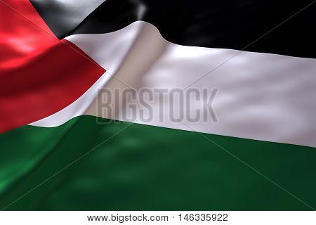 Palestine flag background , 3d rendering image