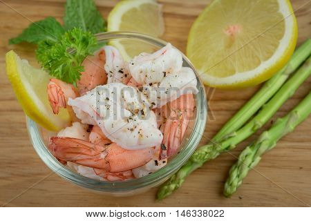 Shrimps. Prawns isolated on a White Background. Seafood food