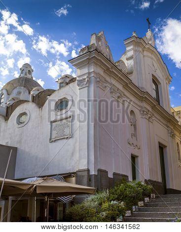Old church in the center of Capri old town Capri Island Italy