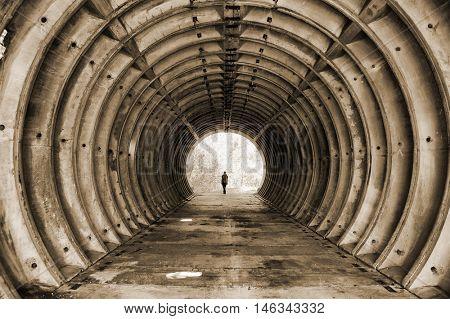 Abandoned bunker.Lost city.Near Chernobyl area.Kiev region,Ukraine
