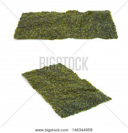 Nori Seaweed isolated on white background set