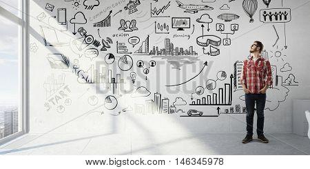 Business success seminar . Mixed media