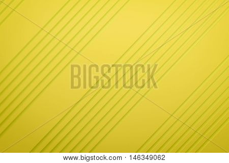 yellow siding oblique line layout paper material background 3d render