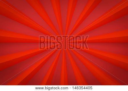 red ray background with copy space 3d render