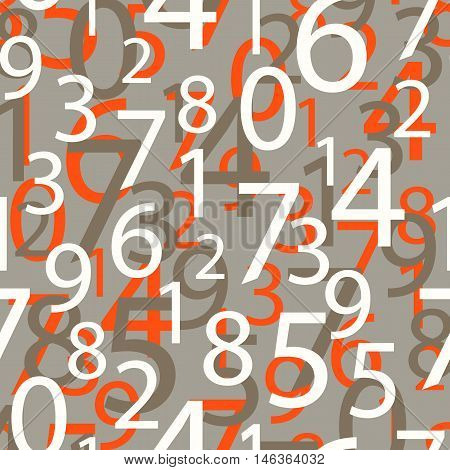 Seamless pattern numbers. Stock vector background arithmetic.