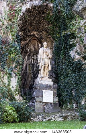 statue of Jean Kleberger in Lyon France the bon Allemand