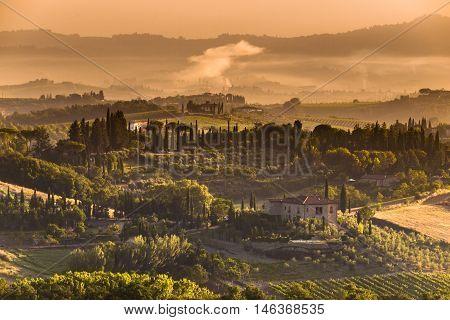Tuscany Village Landscape Scenery