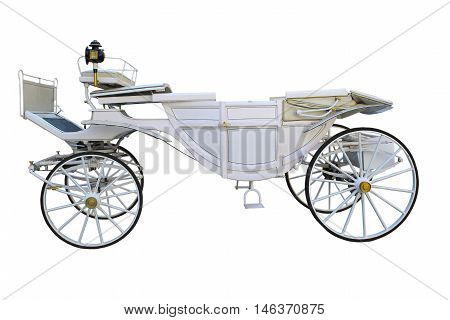 the white carriage on a white background