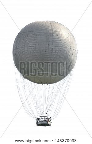 the a gray balloon on white background