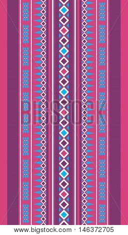Purple And Blue Vintage Traditional Rug Motif