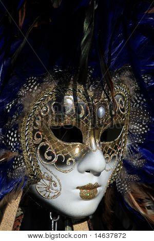 A beautiful carnivale mask from venice Italy