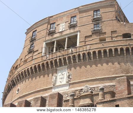 Castel Sant Angelo in Rome, Italy. European architecture.