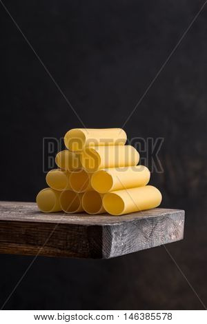 cannelloni on a wooden board