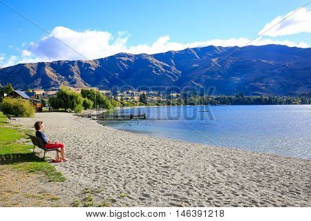 Lake Wanaka Landscape In New Zealand