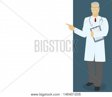 MD , Professor , doctor indicates information vector