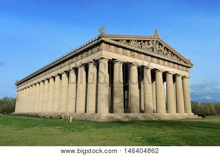 View of replica of Parthenon in Nashville Tennessee during daytime