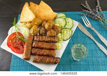 Barbecue On A Plate With Extras