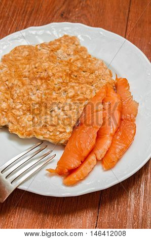 Salmon And Oatmeal Omelette
