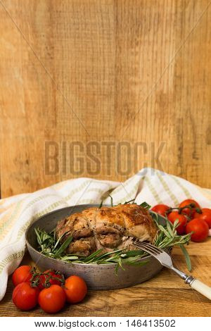 Roast Turkey With Rosemary And Cherry Tomatoes