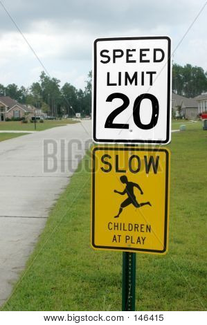 Residential Traffic Signs