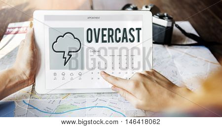 Forecast Overcast Weather Report Concept