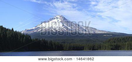 Mt. Hood & Trillium Lake Panorama, Oregon.