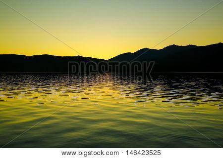 Lake Te Anau In New Zealand
