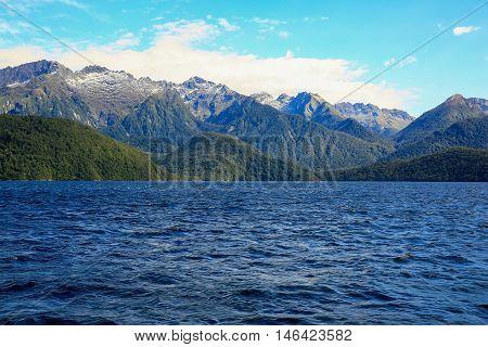 Milford Sound At Te Anau In New Zealand