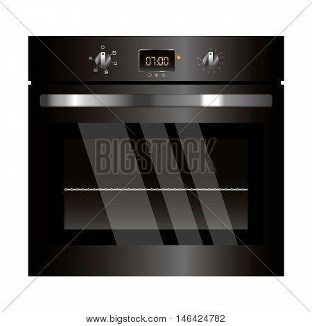 Vector Black Oven