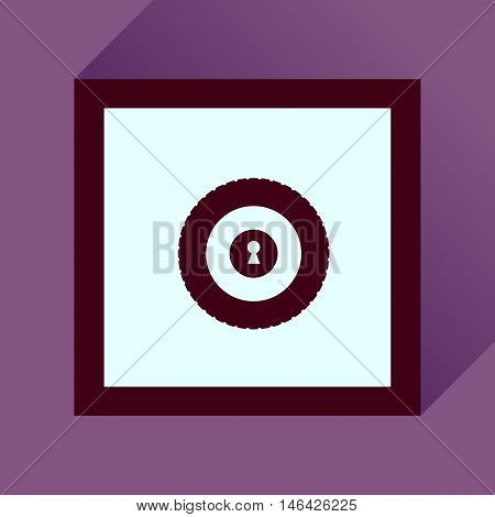 Flat icon with long  shadow safe economy