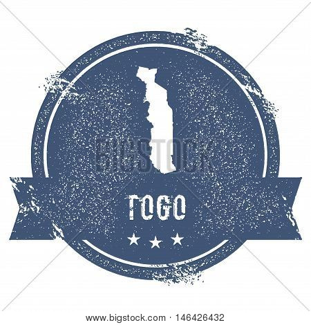 Togo Mark. Travel Rubber Stamp With The Name And Map Of Togo, Vector Illustration. Can Be Used As In