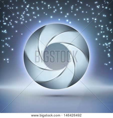 3D wireframe element. Futuristic space gates. Vector technology design