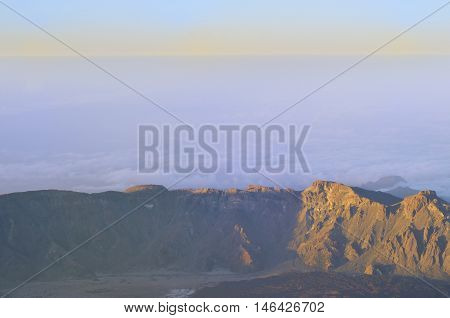View of the mountains in the national park of Teide, Tenerife, Canary islands, Spain